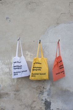Werkplaats Typografie / ISIA Urbino SummerSchool13 by Giulia Marzin, via Behance