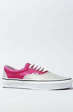 72474b7775 Vans Footwear The Era Sneaker in Magenta and Silver Glitter   MissKL.com -  Cutting