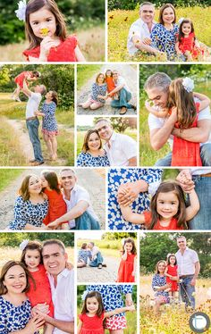 Dallas Child  Family Portrait Photographer     Family of three portraits in a field.  Just 3 colors in this palette and I loved how great their styling looked for a summer shoot!  - Tracy Allyn Photography -  www.tracyallyn.com