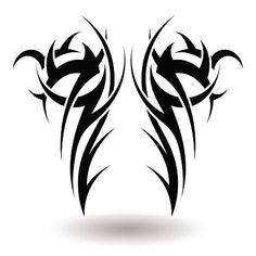 Patterns Tribal Tattoo Design Use Vector Stock Vector (Royalty Free) 73936273 - Hand Drawn Tribal Tattoo in Wings Shape. Elegant Smooth Design Over White Background. Tribal Tattoo Designs, Tribal Back Tattoos, Tattoo Sleeve Designs, Leg Tattoo Men, Arm Band Tattoo, Body Art Tattoos, Tattoo Drawings, Wing Tattoos, Star Tattoos