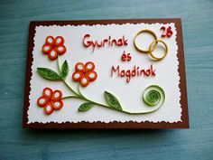 quilling üdvözlet / quilled greeting card