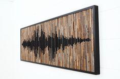 Wood wall art abstract sound wave Different von CarpenterCraig