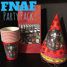Five Nights At Freddy's FNAF Birthday Party Pack Bundle For 7 - RED in Home & Garden,Greeting Cards & Party Supply,Other Gift & Party Supplies | eBay