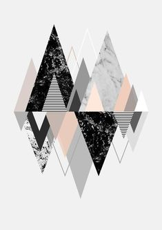 Graphic 117 Art Print Abstract Print, Canvas Size, Printer, Triangles, Fine Art Prints, Canvas Prints, Marshall Lynch, Wood Bars, Wrap Style