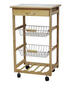 Another great find on #zulily! Pinewood Wine Rack Kitchen Cart by JA Marketing #zulilyfinds