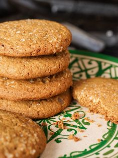 These cookies are crispy and perfectly spiced. We prefer using Indonesian red ginger to punch things up a bit, but any dry ginger will do. Ginger Soda, Fresh Ginger, Biscuit Cookies, Cake Cookies, Cookie Recipes, Dessert Recipes, Desserts, Granola Barre, Kitchens
