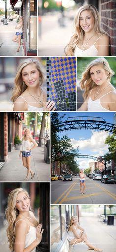 beautiful senior pictures, downtown senior pictures, senior pictures on city street, senior portraits