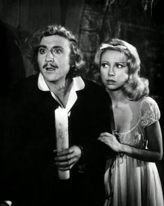 "Gene Wilder and Teri Garr in ""Young Frankenstein"" (1974, Mel Brooks)"