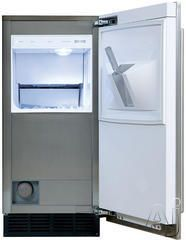 "Sub-Zero UC15IO 15"" Built-in Outdoor Ice Machine with 25 lbs. Ice Storage, Clear Ice Cubes, Automatic Defrost, Water Filtration and LED Bin Light: Without Drain Pump @ Metro Warehouse combined with Refrigerator totals $2889"