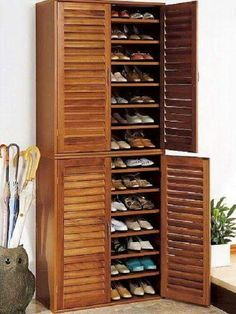Shoe Storage Ideas To Keep Your Footwear Safe And Sound! 30 Great Shoe Storage Ideas To Keep Your Footwear Safe And Sound! 30 Great Shoe Storage Ideas To Keep Your Footwear Safe And Sound! 67 Mind-Blowing Under Stair Powder Room Designs To Inspire You Shoe Cabinet Entryway, Tall Cabinet Storage, Storage Cabinets, Shoe Cabinet Design, Cabinet Doors, Shoe Cupboard, Entryway Shoe Storage, Entryway Closet, Door Entryway