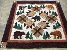 This quilt is called 5 Bears and some paws for obvious reasons. So mountains!