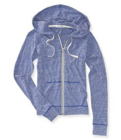 Heathered Lightweight Full-Zip Hoodie