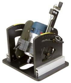 """1470 Angle-Ease is designed to fit 3-1/2"""" motors from the Bosch 1617 & 1618, DeWalt 616 & 618 and Porter Cable 690 & 892. The Angle-Ease allows your router to do things no other tool can do. It's safer then tilting your work, and multiple profiles are possible with just one bit. Combine its angling ability"""
