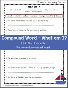Correct the sentence capitalization and punctuation worksheet compound words worksheet what am i fandeluxe Image collections