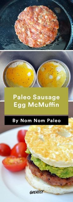 7. Paleo Sausage Egg McMuffun #greatist http://greatist.com/eat/nom-nom-paleo-favorite-recipes (Sausage Sandwich Recipes)