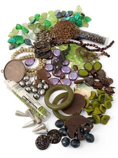 Beads & supplies from Beadaholique.com along with Vintaj embellishments & findings  {Find designs inspired by our Morning Mist theme in the Vintaj Idea Gallery!} #beads #jewelrymaking