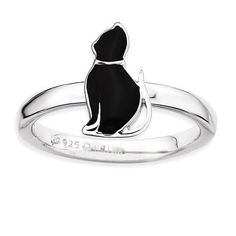 This Sitting Cat Black Enamel ring is just magnificent. This ring contains Black Enamel. This ring is made of fine 925 Sterling Sterling Silver. This Men's ring is manufactured by Stackable Expressions Jewelry Brand Cat Jewelry, Jewelry Rings, Fine Jewelry, Stylish Jewelry, Jewelry Sets, Cat Ring, Gift Sets For Women, Black Enamel, Sterling Silver Jewelry