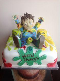 Horrid Henry Birthday Cake..... 4th Birthday, Birthday Cakes, Birthday Parties, Cake Models, Ender's Game, 6 Cake, Cakes For Boys, Decorated Cakes, Cake Designs
