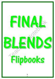 FINAL BLENDS FLIPBOOKS product from Learning101 on TeachersNotebook.com