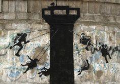 Le opere di Banksy a Gaza - Il Post