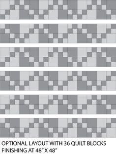 Easy Double Four Patch Scrap Quilt Pattern: Make a Larger Double Four Patch Scrap Quilt