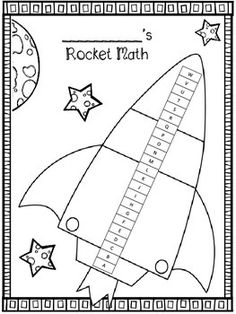 Rocket Math-- Free score tracker sheet for students