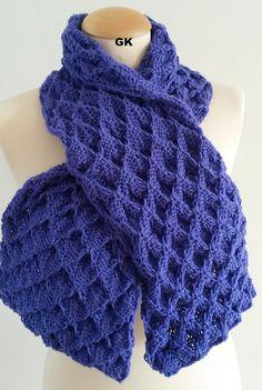 Giezen Hand Knit Butterfly Scarf By Jen Giezen - Purchased Knitted Pattern - (ravelry)
