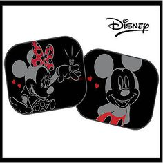 eca11b9ced7 2x Disney Mickey and Minnie Black Kids Baby Children Car Window Sun Shades  in Vehicle Parts