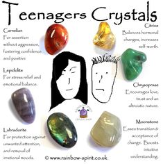 crystal healing The crystals in this set have been carefully selected to complement as touchstones of support for the physical, mental and emotional bumpy ride that is puberty and bein Crystal Guide, Crystal Shop, Crystals And Gemstones, Stones And Crystals, Crystals For Kids, Ice Crystals, Crystal Healing Stones, Healing Crystal Jewelry, Crystal Meanings