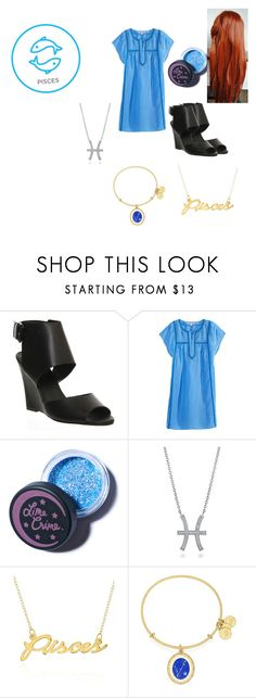 """""""Pisces(my sis zodiac)"""" by pinkleopardkitten ❤ liked on Polyvore featuring Office, Calypso St. Barth, Lime Crime, BERRICLE, Belk & Co. and Alex and Ani"""