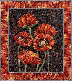 Панно из мозаики Маковый цвет