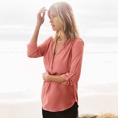 An everyday favorite - the Mixed Media Tunic comes in a flattering cut, generous lenght, and practical details. Shop all our colors @nordstrom.