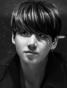 Jungkook portrait by getyourdragon.deviantart.com on @DeviantArt