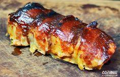 Como fazer filé mignon suíno com molho barbecue e bacon