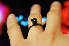 Black engagement ring...awesome!