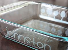 DIY Etched Glassware Tutorial - Perfect Hostess Gift - Foodista.com Great idea for wedding gifts, too,