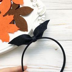 Halloween headband bow bat