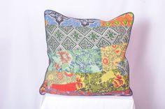 Silk Kantha Decorative throw Pillow Sari Kantha by IndianHippy, $13.00
