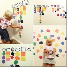 Around here we love simple and playful learning! Fun activities for learning shapes. Toddler Approved for ages Toddlers And Preschoolers, Games For Toddlers, Toddler Learning Activities, Infant Activities, Fun Learning, Preschool Activities, Shape Activities, Educational Activities, Activities For 2 Year Olds Indoor