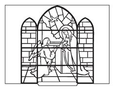 Coloring Book: The Annunciation (stained glass)