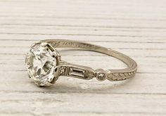 antique engagement ring so sweet