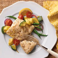 Cod with SummerVegetables
