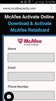 http://www.mcafeecards.com/mcafeeactivate