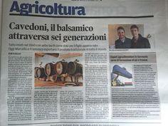 Antica Acetaia Cavedoni dal 1860  Sulla Gazzetta di Modena 15/11/2016