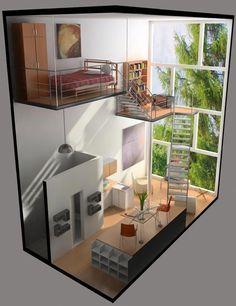 Ideas For Apartment Architecture Plans Design Architecture Plan, Interior Architecture, Landscape Architecture, Sims House Plans, Casas The Sims 4, Sims 4 Houses, House Stairs, Loft Stairs, Loft House