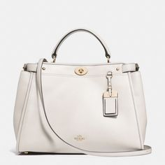 The Gramercy Satchel In Leather from Coach  -  i like the chalk, white.  other colors available.  nice, classic, conservative satchel.     lj