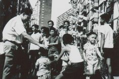 PRIME MINISTER LEE KUAN YEW VISITING A NEWLY COMPLETED HOUSING AND DEVELOPMENT BOARD PUBLIC HOUSING ESTATE IN SINGAPORE - 1965