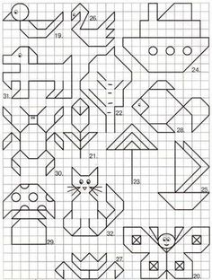 """May: Math """"May""""hem ~ Spring Math Printables Color By Codes Blackwork Patterns, Blackwork Embroidery, Cross Stitch Patterns, Graph Paper Drawings, Graph Paper Art, Drawing For Kids, Art For Kids, Doodle Art, Pixel Art"""