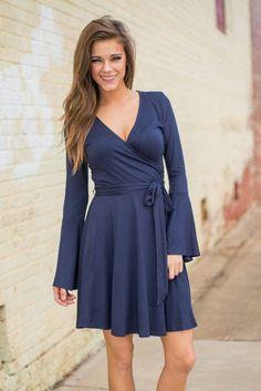 Retention To Detail Dress, Navy