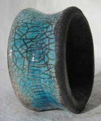 Raku ceramics: napkin ring